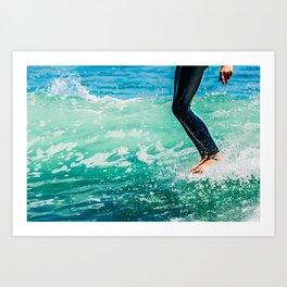 Surfing - Walking The Plank 2 Art Print