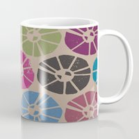 contemporary Mugs featuring CONTEMPORARY FLOWERS by HAUS OF DEVON