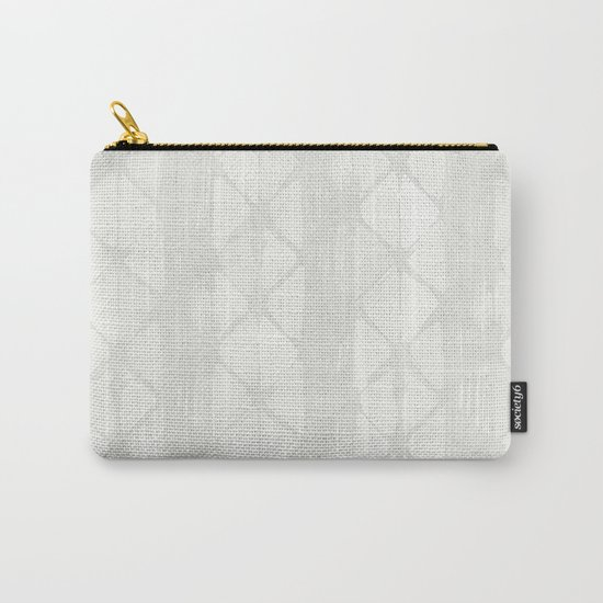 Simply Braided Chevron Lunar Gray Carry-All Pouch