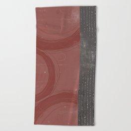 Rose Circles Grey Dots Beach Towel