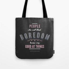 Boredom Tote Bag