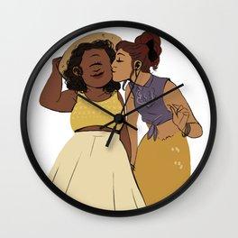 LN summer: Pam and Radha Wall Clock