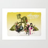 The Stereotykes Yellow Poster Art Print