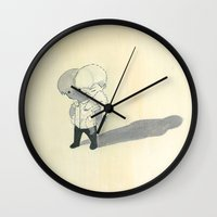backpack Wall Clocks featuring invisible backpack by Valeria Bertolini