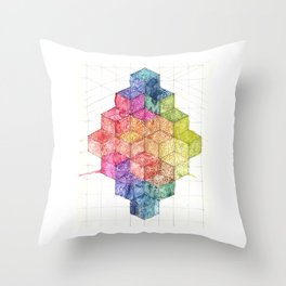 Transitional Rainbow Throw Pillow