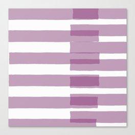 Big Stripes in Purple Canvas Print