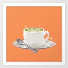 Matcha Latte Art Print