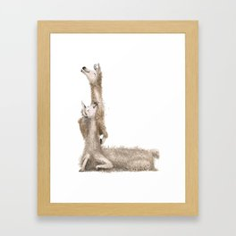 L is for Laughing Llamas! Laugh-A-Bit Alphabet - Animal Letters ACB Nursery Decor Framed Art Print