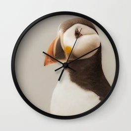 Puffin close up Wall Clock