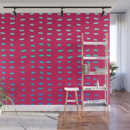 Fiesta at Festival - Raspberry & Turquoise Wall Mural