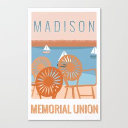 Memorial Union Travel Poster Canvas Print