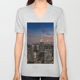 New York Skyline Unisex V-Neck