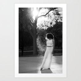 Woman in sunlight Art Print
