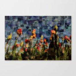 Champ de Tulipes Mosaïque Canvas Print