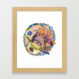 Garden Creatures Bubble Framed Art Print