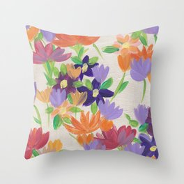 Wallflowers III Throw Pillow