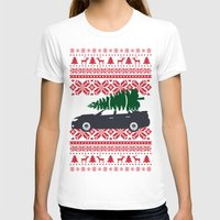 subaru T-shirts featuring Happy Holidays - Subaru Christmas Sweater by E. Phillips - Creative Designer