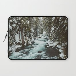 The Wild McKenzie River Portrait - Nature Photography Laptop Sleeve