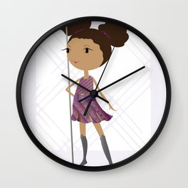 Warrior in Me (My DNA) Wall Clock