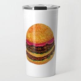 Watercolor hamburger Travel Mug