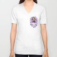 gothic V-neck T-shirts featuring Gothic Lolita by SilverChaim