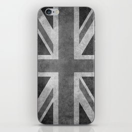 Union Jack Vintage 3:5 Version in grayscale iPhone Skin