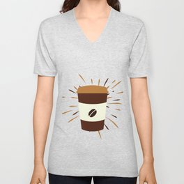 Coffe Shirts | Gifts for coffee lover | Addicted to caffeine | Coffee | Coffee Gift | Present Unisex V-Neck