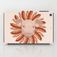 piglet iPad Cases featuring Pork Chop by AdamAether