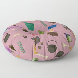 Copy of Assorted Witchery Repeating Pattern Pink Floor Pillow