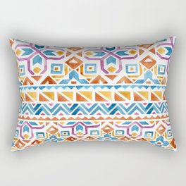 Geometric colorful Watercolor Pattern Rectangular Pillow