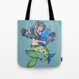 narwhal and mermaid best friends forever Tote Bag