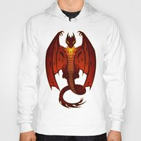 smaug Hoodies featuring The Hobbit- Smaug by prpldragon