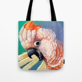 Moluccan Cockatoo realistic painting Tote Bag
