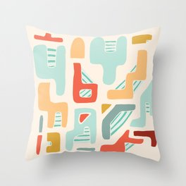 Water Reserve Abstract Illustration Throw Pillow