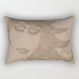 Angels Cry Blood On Flowers Of Evil In Bloom. Rectangular Pillow