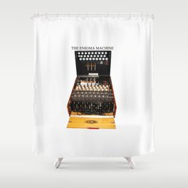 The Secret Code Machine Shower Curtain