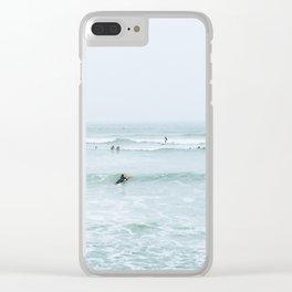 Tiny Surfers Lima, Peru 2 Clear iPhone Case