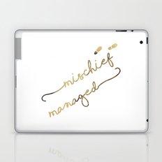 Mischief Managed (white) Laptop & iPad Skin