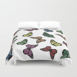 Multi Colored Butterfly Pattern Duvet Cover