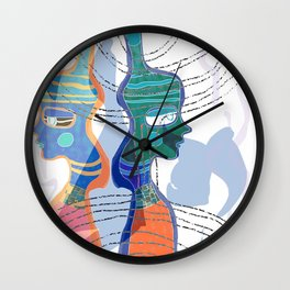 Girl Silhouette With Shapes VI Wall Clock