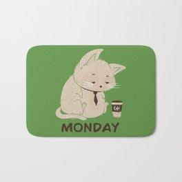 Monday Cat Bath Mat