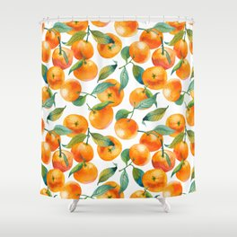 Mandarins With Leaves Shower Curtain