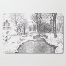 Snowy Landscape Cutting Board