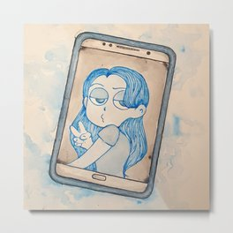 Ghost Phone Metal Print