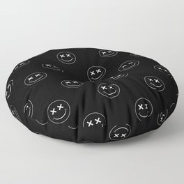 emoji smiley face pattern Floor Pillow