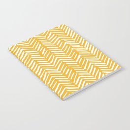 Boho Mudcloth Pattern, Summer Yellow Notebook