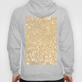 Abstract white gold glamorous girly glitter pattern Hoody