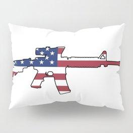 American Flag: M4 Assault Rifle Pillow Sham