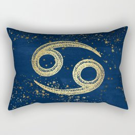 Cancer Zodiac Sign Rectangular Pillow