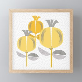Capsules Yellow Framed Mini Art Print
